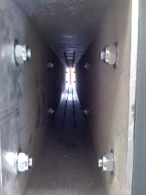 View inside the y-axis beam