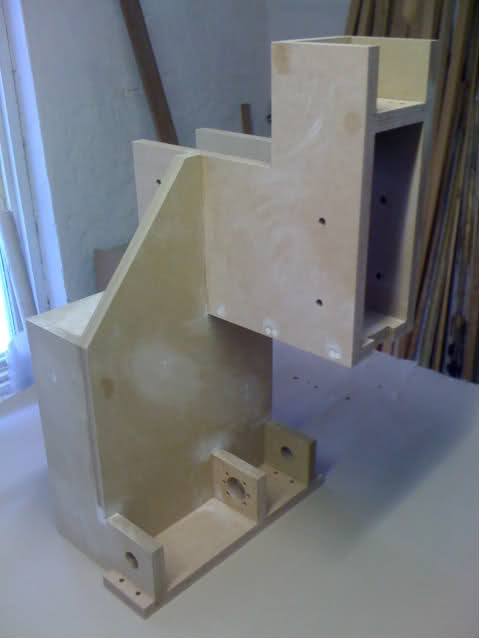 Glued and sanded Y-tower