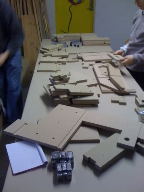 We had the HDF parts pre-fabricated